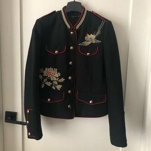 Zara wool embroidered blazer
